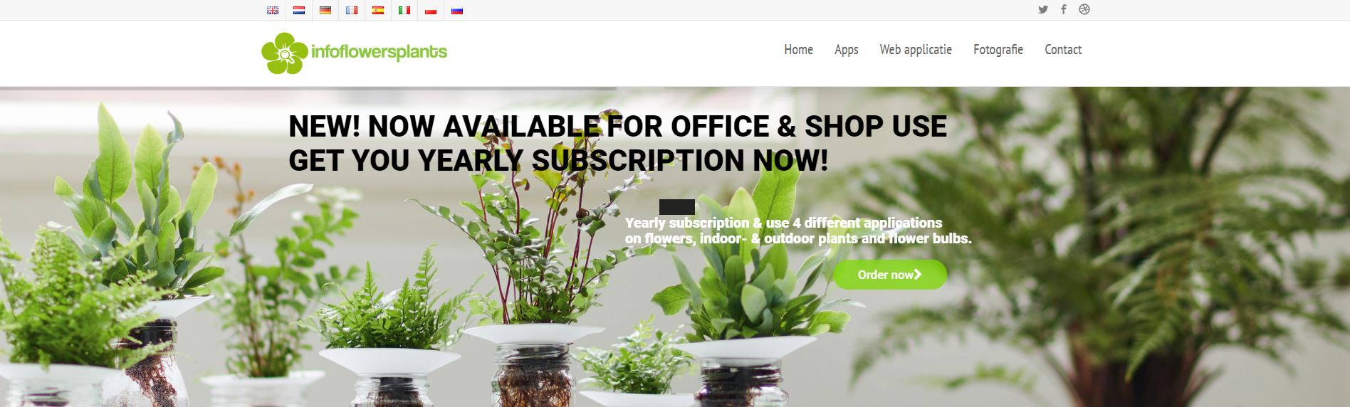 Webapp InfoFlowersPlants
